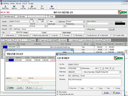 Phần mềm Quản lý phòng khám Nha khoa EDental
