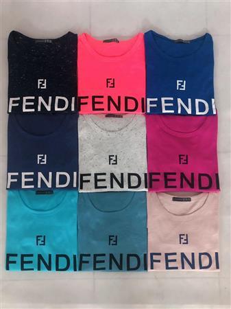 Áo thun cotton in chữ FENDI giá sỉ cực rẻ chỉ 2x, hàng chia