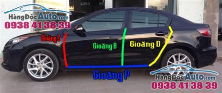 Mazda 3 gắn gioăng cao su gia cố Full