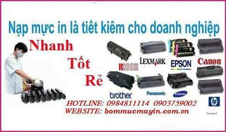 Nạp mực máy in samsung ML1640/1160/1450/4531f/4623f/4300/