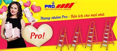 Thang nhôm Pro quảng cáo trên xe Bus tại Hà nội