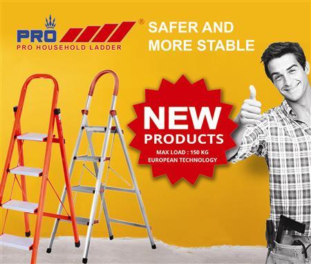 Thang nhôm Pro ra mắt dòng sản phẩm thang nhôm tay vịn inox