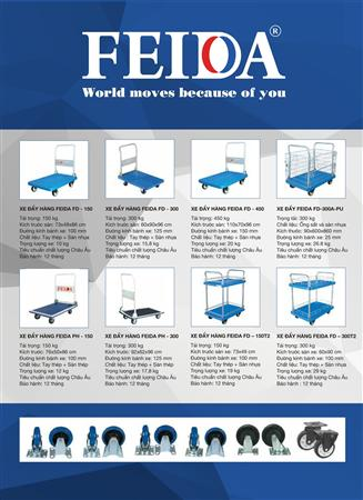 Tìm đại lý phân phối xe đẩy hàng sàn nhựa  Feida