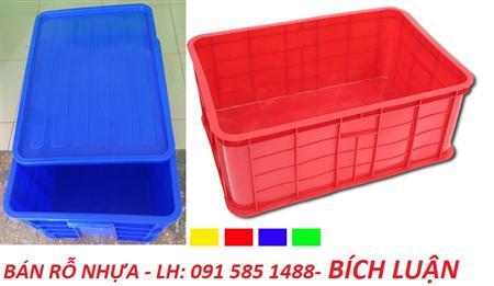 Thùng Nhựa đặc model VN03-HK, sóng nhựa bít giá rẽ