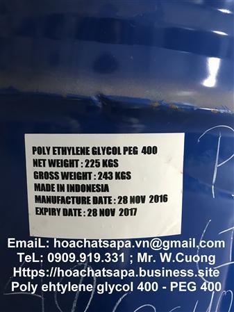 Bán PEG 600, polyethylene glycol 600, chất phân tán, màu sơn