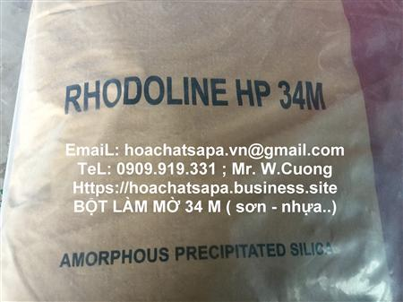 Rhodoline 34M| Silica hoat hoa| chat lam mo mang son, muc in