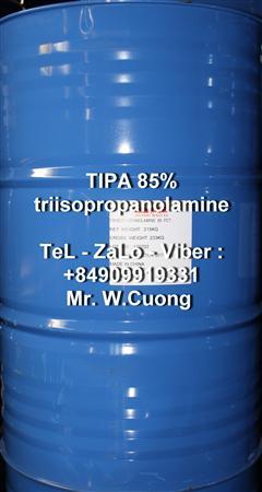 Bán : Triisopropanolamine, TIPA 85%, chất trợ nghiền xi măng