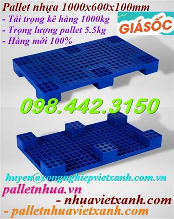 Pallet nhựa kê hàng KT 970x585x95mm giá siêu rẻ