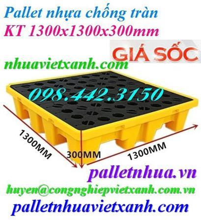 Pallet nhựa 1100x1100x150mm xanh dương mới 100% giá rẻ