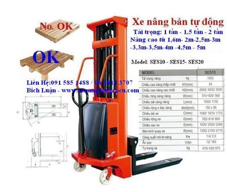 xe nâng bán tự động, xe nâng cao 1~3 tấn,LH 0984 920077
