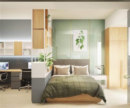 Cho thuê căn hộ 1PN ( Đăng ký Công ty, VP làm việc) Sunrise