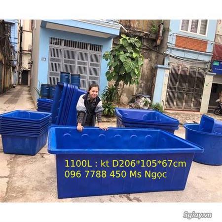Thùng nhựa nuôi cá 1100 lít giá rẻ Lhe 0967788450 Ngọc