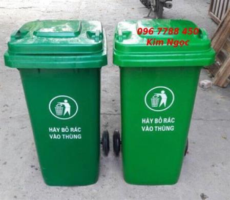 Thùng rác gia đình 120 lít xanh lá Lhe 0967788450 Ngọc