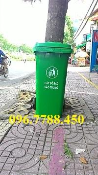 Thùng rác nhựa 120 lít giá rẻ toàn quốc Lhe 096.77788.450