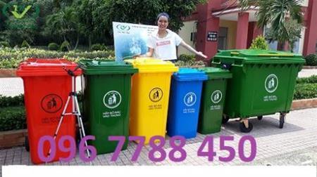 Thùng rác gia đình 120lít, 240 lít Lhe 0967788450 Ngọc
