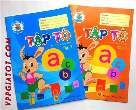 >> Vở tập tô chữ , tô số cho bé mẫu giáo , lớp 1  tô màu