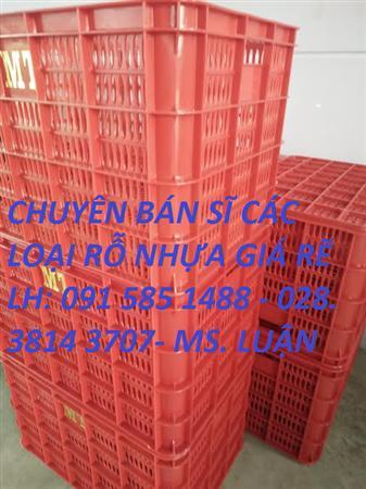 sóng nhựa hở VN04-HL kích thước 610mm x420mm x390, rỗ nhựa