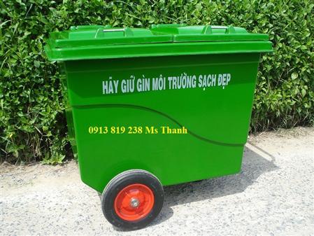 Bán thùng rác composite 660l 4 bánh xe-quận 2 tp hcm