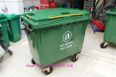 nơi bán thùng rác nhựa 660 lit - xe thu gom rác 660 lit