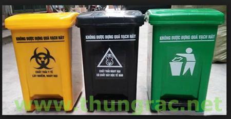 Cc thùng rác đạp chân y tế 25 lít Ms Thanh 0913 819 238