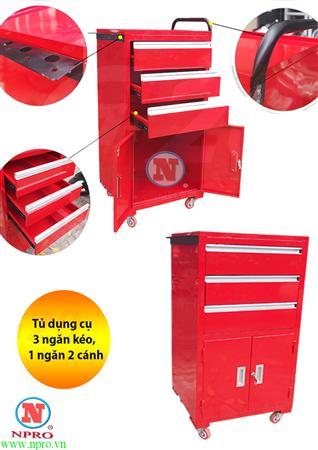 tủ đồ nghề 3 ngăn 2 cánh