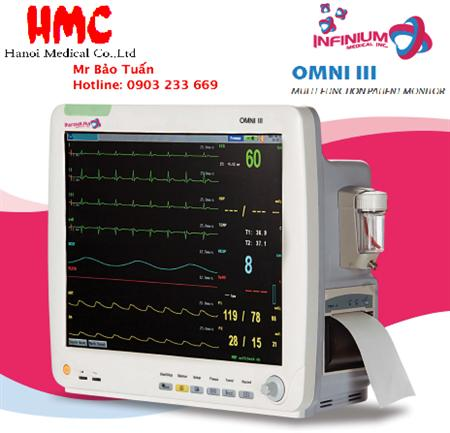 Monitor theo dõi bệnh nhân OMNI III - Infinium Mỹ