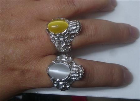 Nhẫn bạc rồng mặt đá tự nhiên Opal