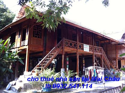 Cho thuê nhà sàn số 9 Tại Bản lác, Mai Châu lh 0904795598