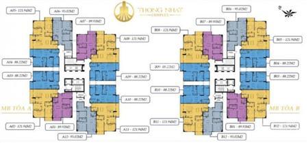 Bán căn hộ 88m2 và 95m2 tầng 10 Dự án Thống nhất complex