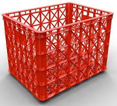 Sóng nhựa 8 bánh xe dùng trong xưởng may.