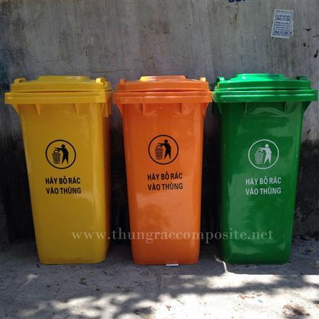 Thùng rác nhựa 240L - Thùng rác công cộng 240L giá rẻ