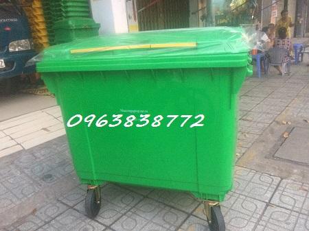 Thùng rác nhựa hdpe 660 lít 4 bánh xe | 0963 838 772