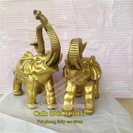 tượng voi đồng, voi đồng, bán tượng voi đồng, voi phong thủy