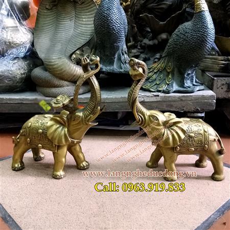 voi đồng – Linh vật phong thủy bằng đồng, giá voi bằng đồng