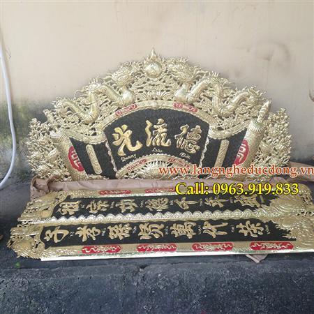 Câu đối lá lật, cuốn thư Đức Lưu Quang 1m55, giá cuốn thư