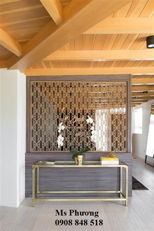 Thiết kế, gia công trọn gói vách ngăn trang trí phòng khách