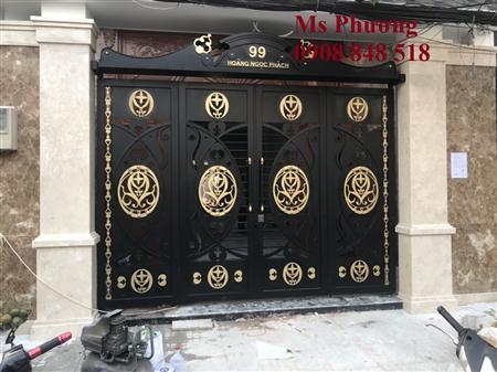 Thiết kế, gia công trọn gói cổng sắt đặc hoa văn nghệ thuật
