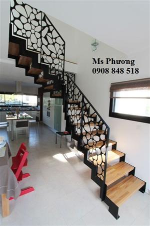 Thiết kế, gia công trọn gói lan can cầu thang sắt CNC