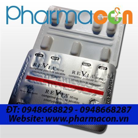Thuốc chống tái nghiện REVIA 50mg (Naltrexone)