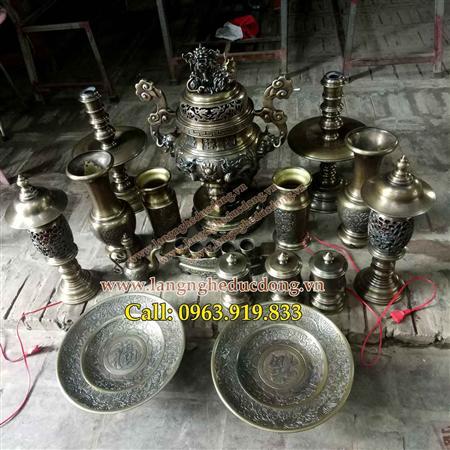 các sản phẩm đồ thờ cúng , đỉnh, đồng, hạc, đồng, đồ,thờ,cún