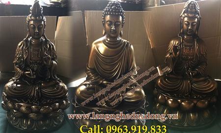 tượng Tượng Tam Thánh, Tam thế Phật cao 60cm, tượng Tam thá