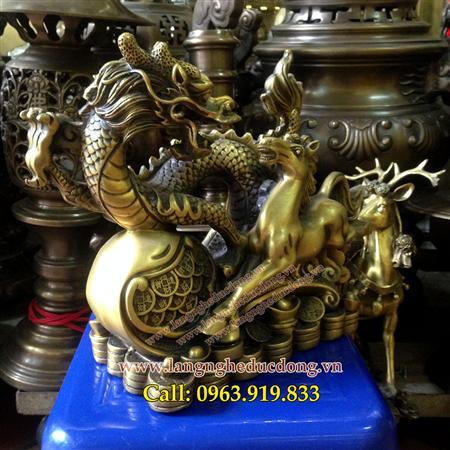 rồng ngựa bằng đồng vàng, đồ phong thủy bằng đồng