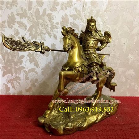 Tượng quan công cưỡi ngựa bằng đồng, mẫu tượng quan công cưỡ