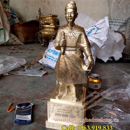 Tượng Đức Thánh Trần hưng đạo cao 48cm, tượng đồng trần hưng