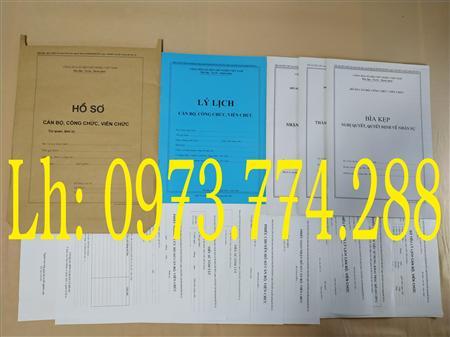 Bán hồ sơ cán bộ, công chức mẫu B01,B02, B03, B04, B05, B06