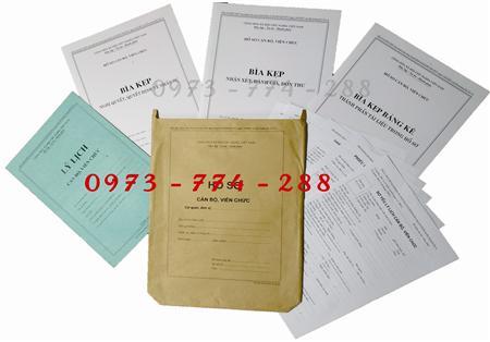 Bán bộ hồ sơ cán bộ, viên chức