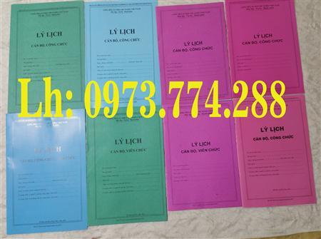 Bán lý lịch cán bộ viên chức mẫu 1a và mẫu 2a/BNV/2007