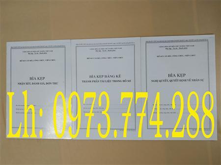 Bán 3 bìa kẹp mẫu 01b, 06, 07b của cán bộ công chức