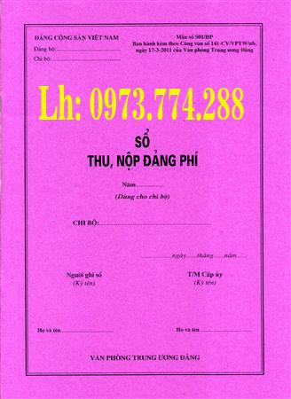 Bán sổ thu nộp đảng phí Mẫu số S01/ĐP dùng cho chi bộ