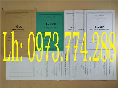 Lý lịch cán bộ công chức (có bán)